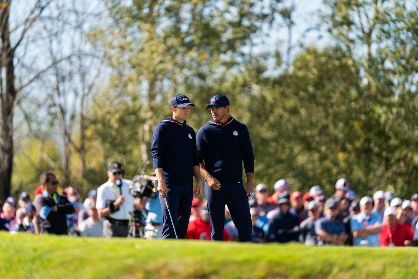 2021 Ryder Cup: Day 2 - Jordan and Brooks Koepka Talk on 6