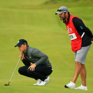The Open Championship 2019: Round 2 - Lining Up a Putt on No. 2