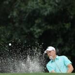 2018 Masters Tournament: Round 3 - Bunker Shot on No. 5
