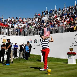 2017 Presidents Cup: Final Round - Jordan Tees Off on No. 1