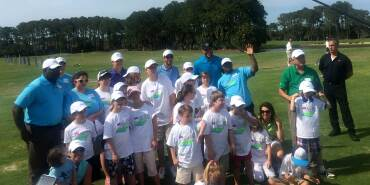 Jordan Spieth Gives a Golf Clinic to Special Needs Kids