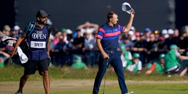 2021 Open Championship: Final Round - Acknowledging the Fans From the 18th Green Part 2