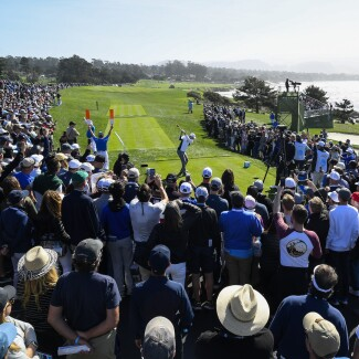 2018 AT&T Pebble Beach Pro-Am: Round 3 - Tee Shot on No. 9