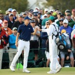 2018 Masters Tournament: Round 1 - Bogey Save on No. 18