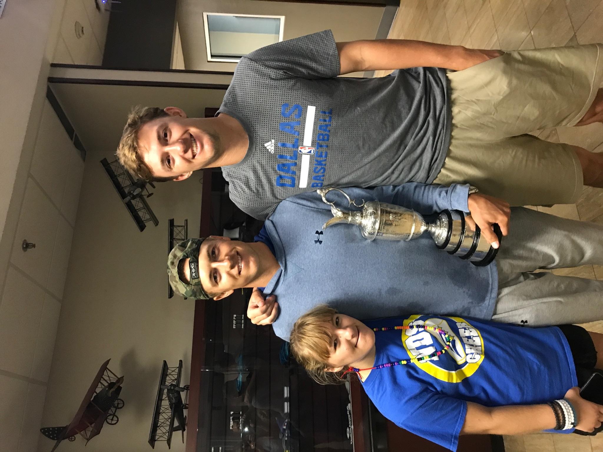 2017 Open Championship: Family Celebration - Jordan and his siblings