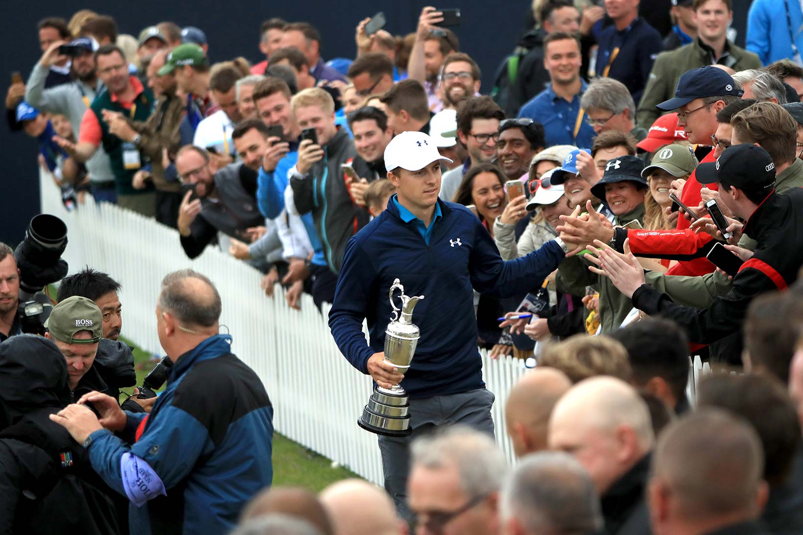 2017 Open Championship: Final Round - Jordan Greets the Gallery