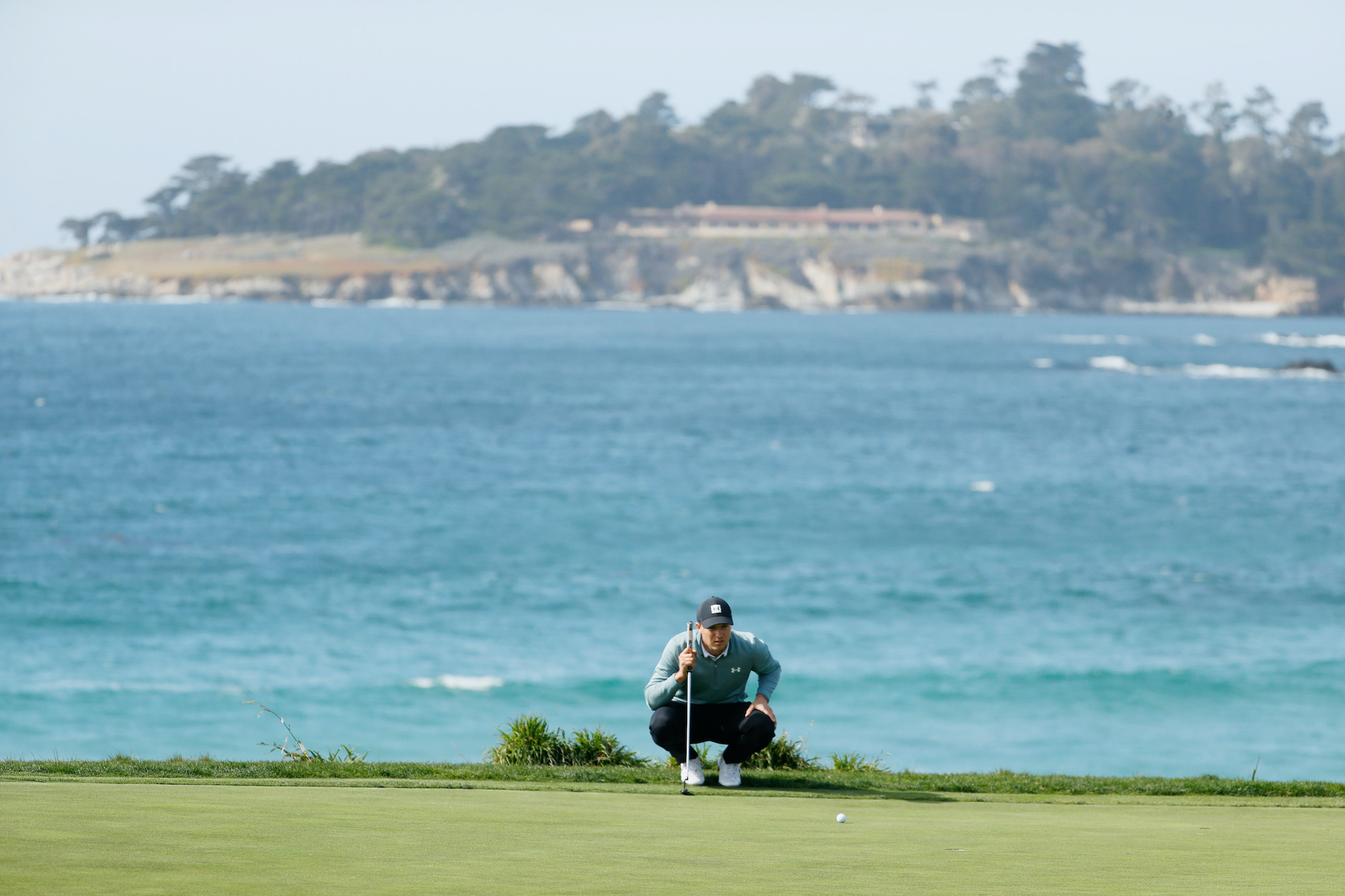 2021 AT&T Pebble Beach Pro-Am: Round 3 - On the 10th Green
